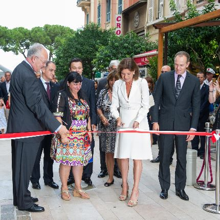 Inauguration of Rue Princesse Caroline