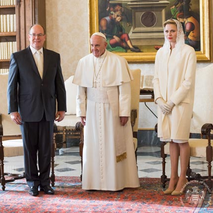Visit by T.S.H. Prince Albert II and Princess Charlene to the Vatican