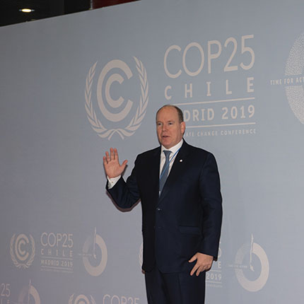 H.S.H. Prince Albert II at COP25 in Madrid