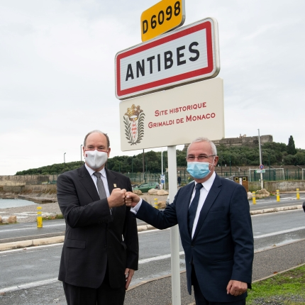 Visit of H.S.H. Prince Albert II to Antibes (Alpes-Maritimes)