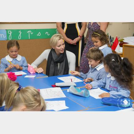 H.S.H. Princess Charlene visits the Principality's schools
