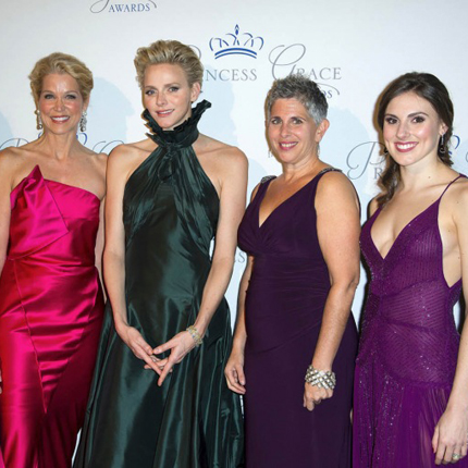 Presence of HSH Princess Charlene of Monaco at the Gala evening for the Princess Grace Foundation...