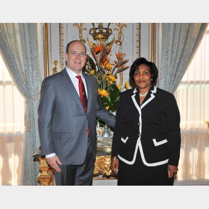 Presentation of Credentials by H.E. Mrs Marcia Yvette GILBERT-ROBERTS, Ambassador of Jamaica to the...